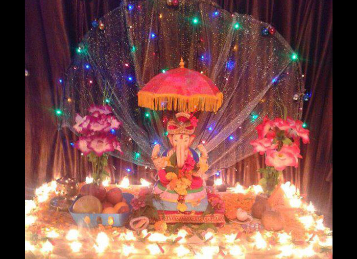 diya lightings ganpati decor @TheRoyaleIndia