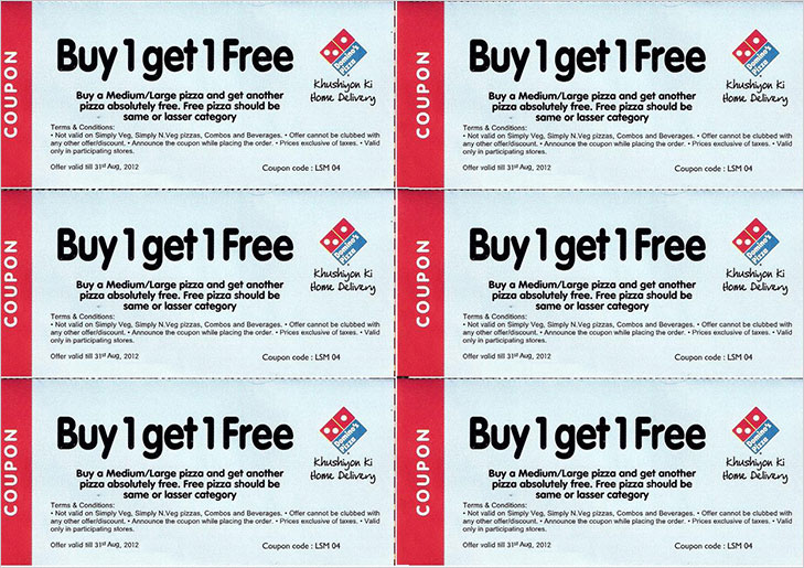 dominos discount coupons @TheRoyaleIndia