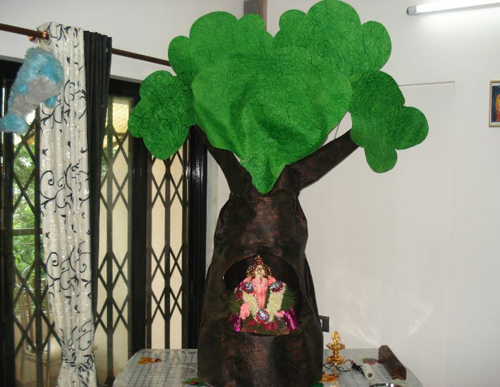ganpati decor cardboard @TheRoyaleIndia