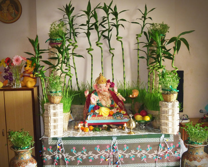 ganpati decor plants @TheRoyaleIndia