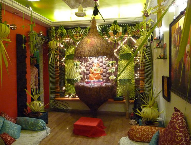 Creative ganpati decoration ideas for home the royale for Decoration ganpati