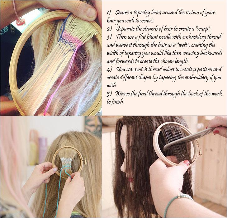 hair tapestry diy @TheRoyaleIndia