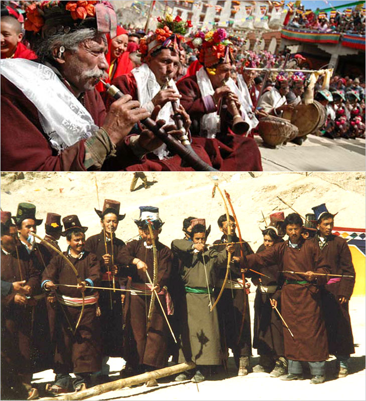 ladakh festival archery @TheRoyaleIndia