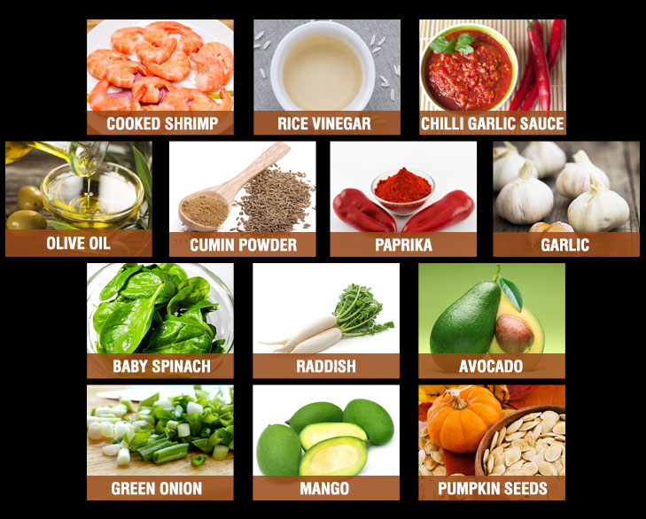 caribbean shrimp salad ingredients @TheRoyaleIndia