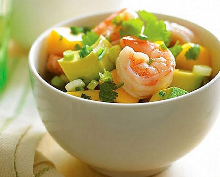caribbean shrimp salad with lime vinaigrette @TheRoyaleIndia