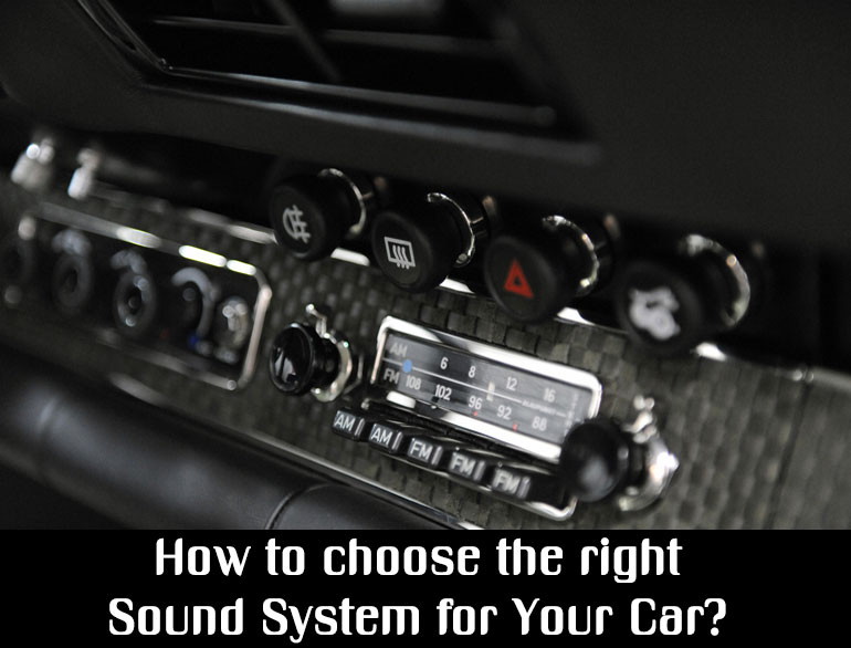 choosing the right sound system for your car @TheRoyaleIndia