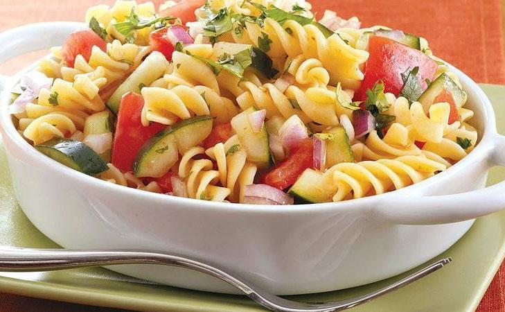gazpacho pasta salad @TheRoyaleIndia