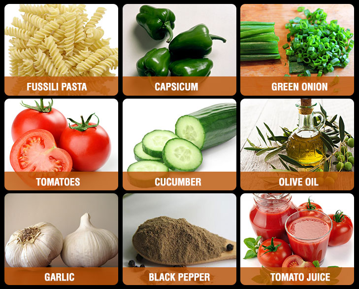 gazpacho salad ingedients @TheRoyaleIndia