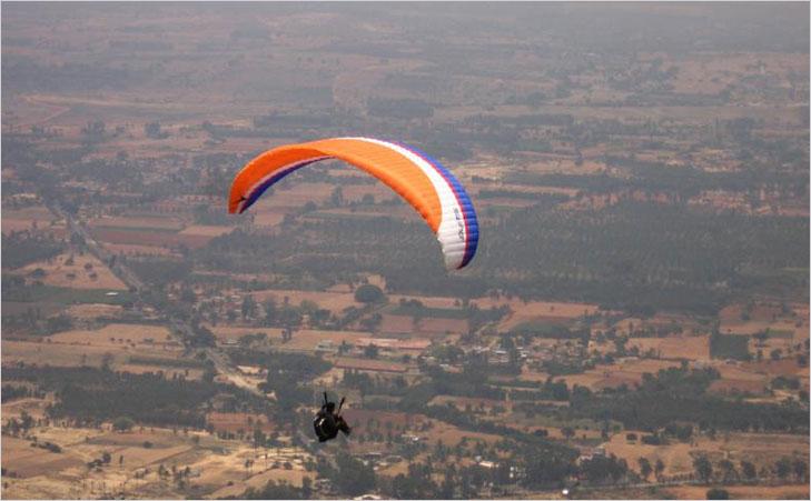 nandi hills paragliding @TheRoyaleIndia