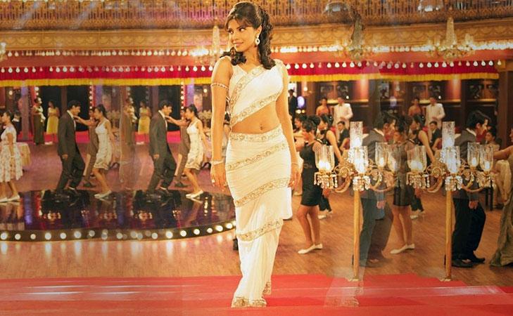 retro style sari drape @TheRoyaleIndia