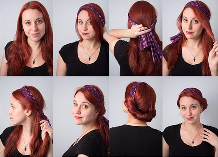 scarf beautiful hairdo @TheRoyaleIndia