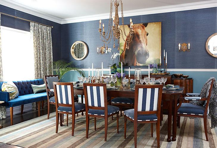 bold coloured walls dining area @TheRoyaleIndia