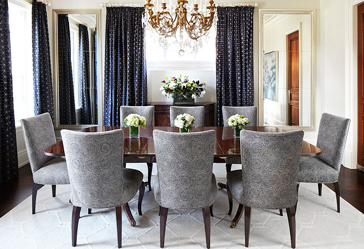 dining area bold curtains @TheRoyaleIndia
