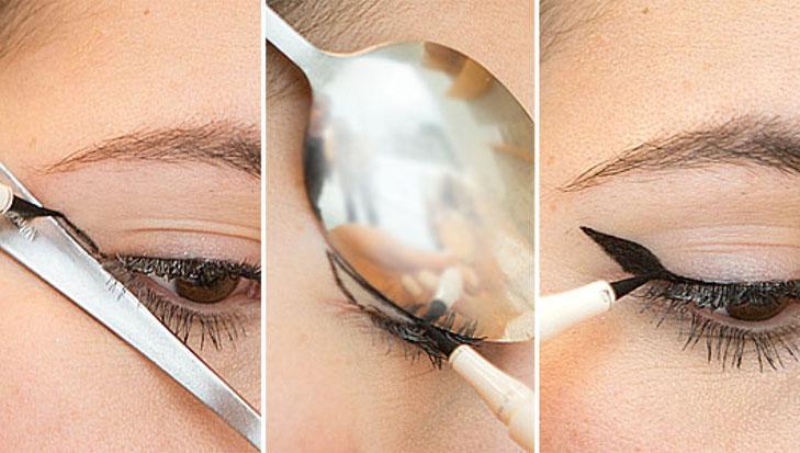 eyeliner perfect wing spoon @TheRoyaleIndia