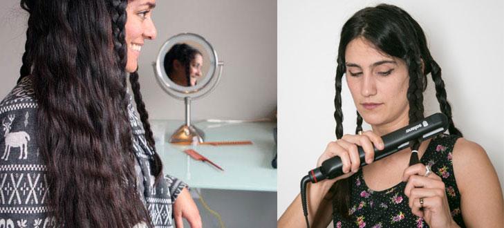Flatiron braids wavy hair @TheRoyaleIndia
