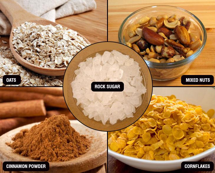 oats laddu ingredients @TheRoyaleIndia