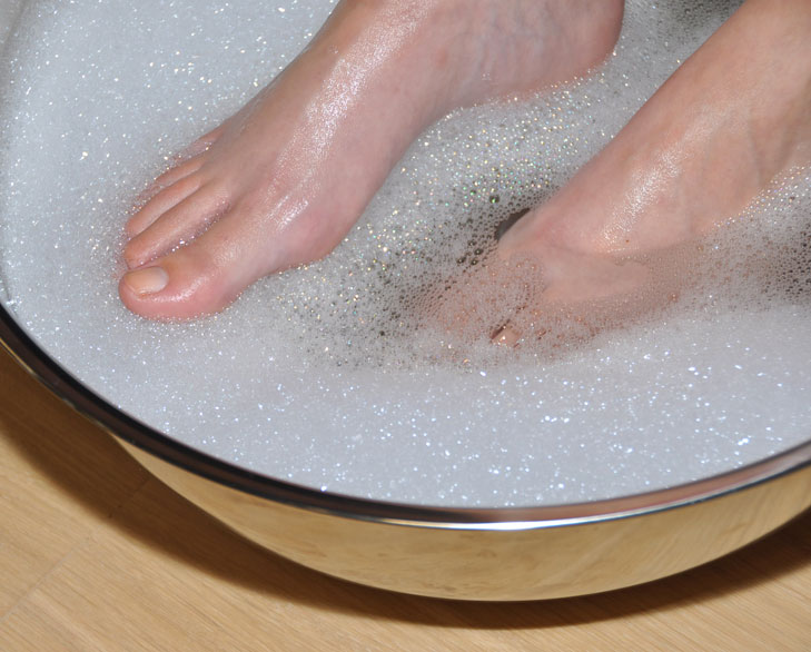 Image result for foot in warm water