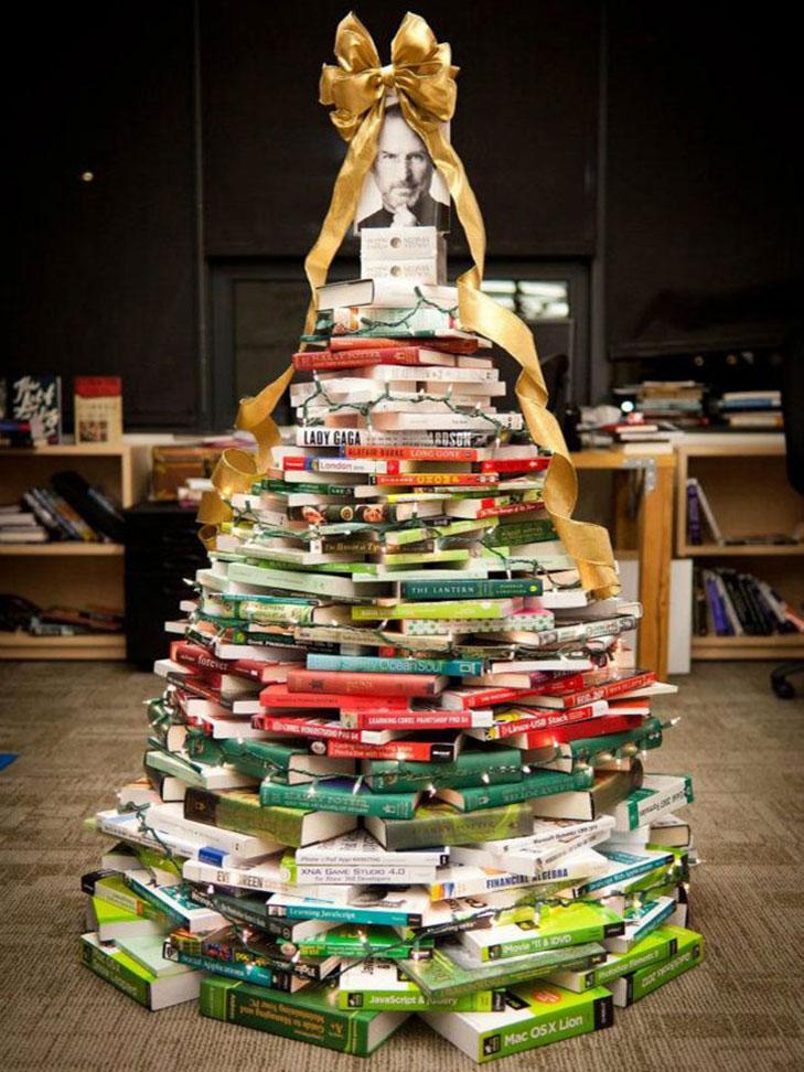Books christmas tree @TheRoyaleIndia