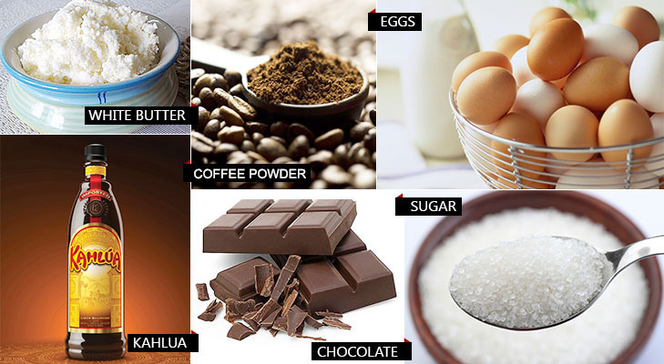 Chocolate kahlua mousse ingredients @TheRoyaleIndia