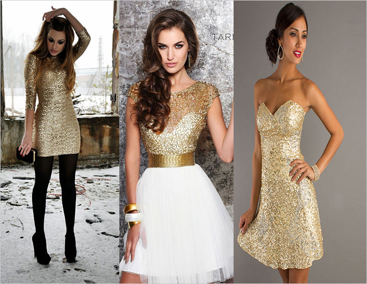 Golden party dress @TheRoyaleIndia