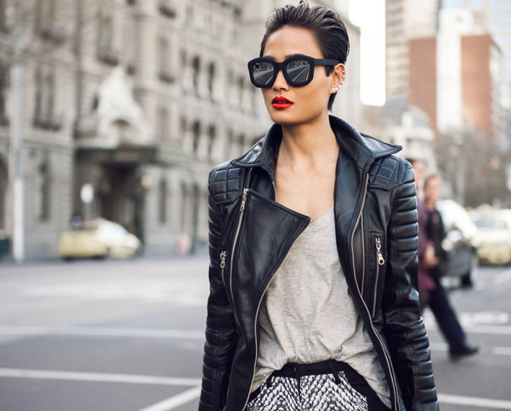 leather jacket winter trend @TheRoyaleIndia