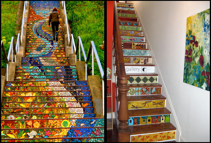 Staircase painting @TheRoyaleIndia