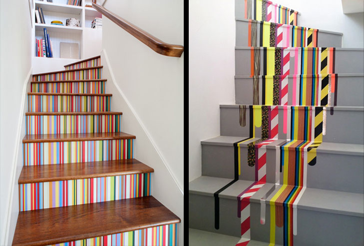 Staircase washi tape @TheRoyaleIndia