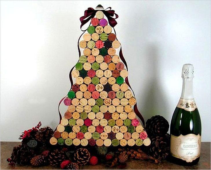 Wine cork christmas tree @TheRoyaleIndia