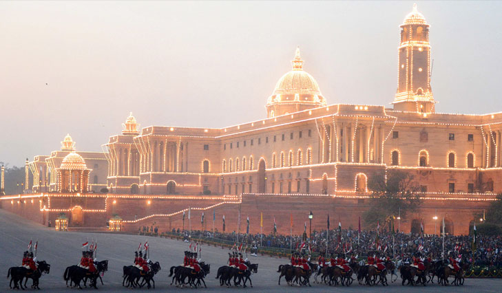 Beating retreat @TheRoyaleIndia