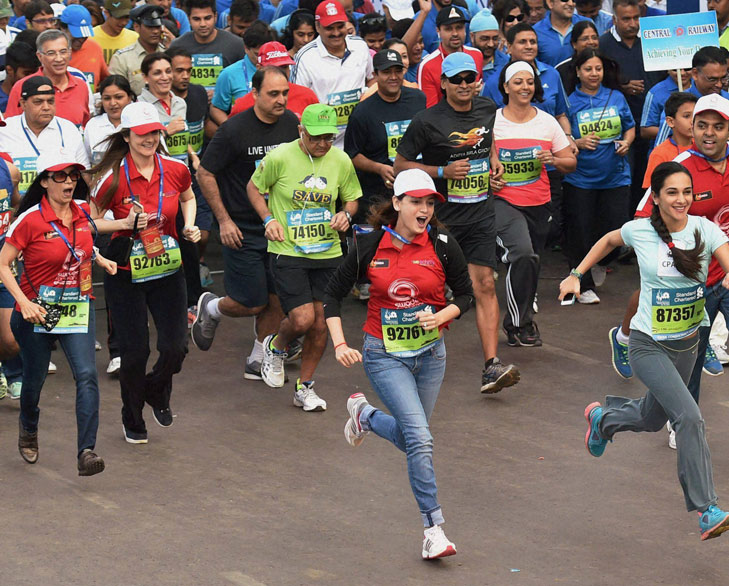 Celebrity marathon runners @TheRoyaleIndia