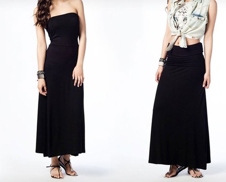 maxi skirt tube dress @TheRoyaleIndia