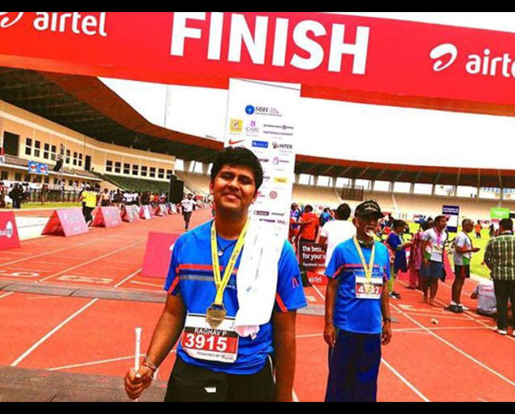 Raghavendra Blind Marathon Runner @TheRoyaleIndia