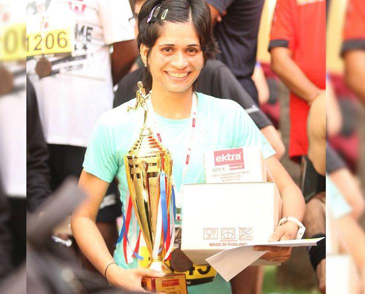 Sayuri dalvi marathon @TheRoyaleIndia
