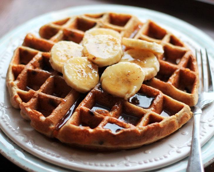 Chocolate banana waffle @TheRoyaleIndia