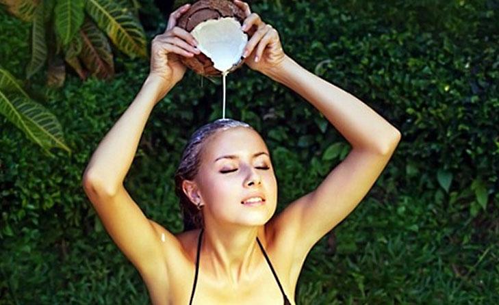 Coconut milk friz free hair @TheRoyaleIndia