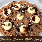 Prepare Chocolate Chips And Banana Waffles In a Jiffy