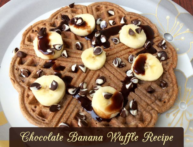 Chocolate Chips And Banana Waffles @TheRoyaleIndia