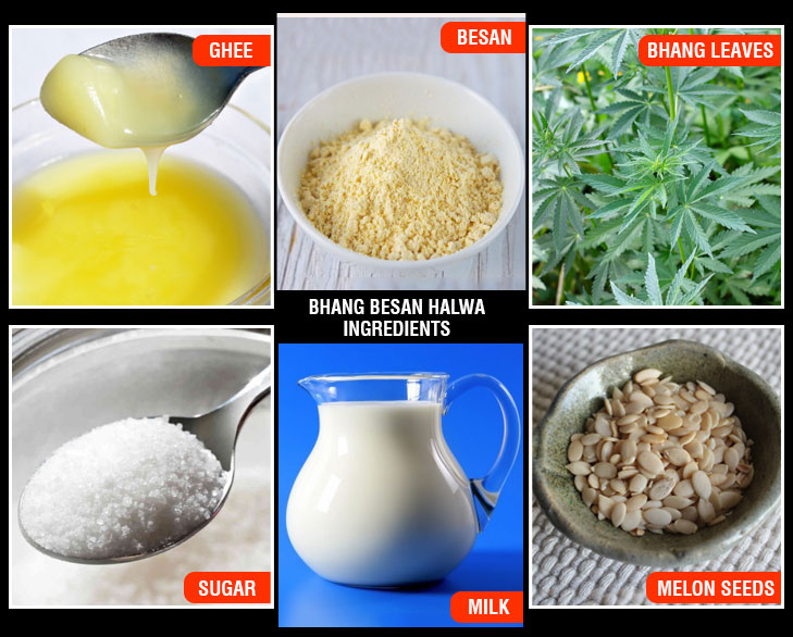 Bhang besan halwa ingredients @TheRoyaleIndia