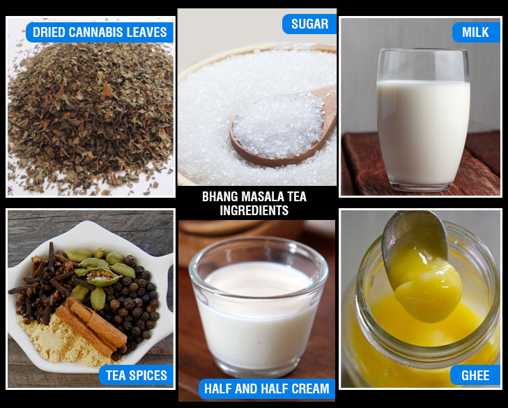 Bhang masala tea ingredients @TheRoyaleIndia