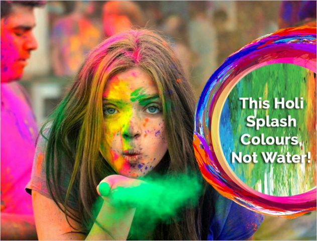 water saving tips for holi @TheRoyaleIndia