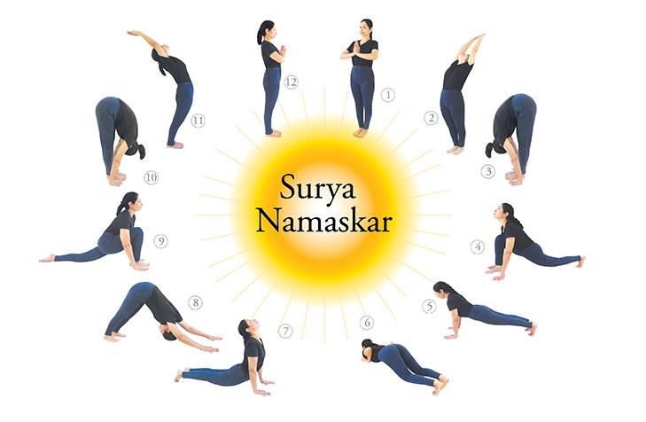Day four surya namaskar yoga festival @TheRoyaleIndia