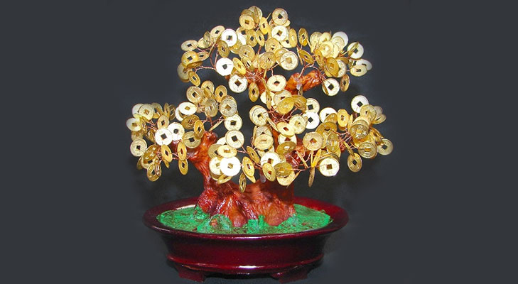 Feng shui coin tree @TheRoyaleIndia