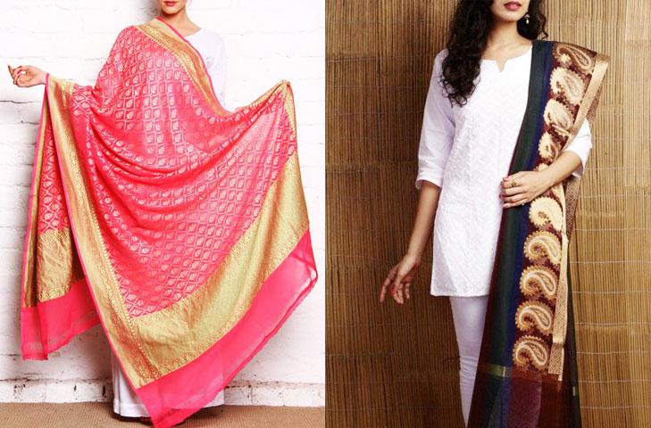 Handloom banarasi silk dupatta @TheRoyaleIndia