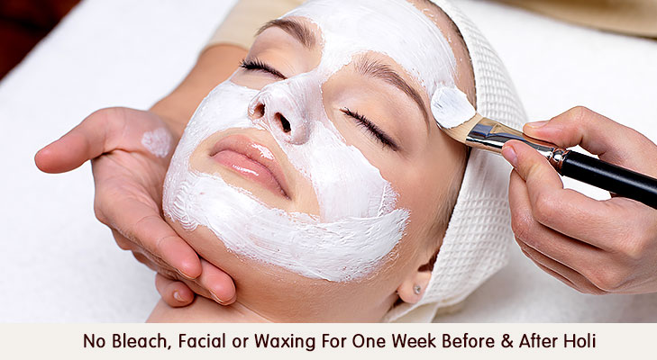 No bleach facial for one week @TheRoyaleIndia