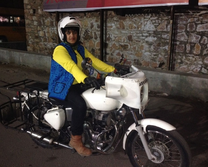 Sana iqbal solo rider against suicides @TheRoyaleIndia