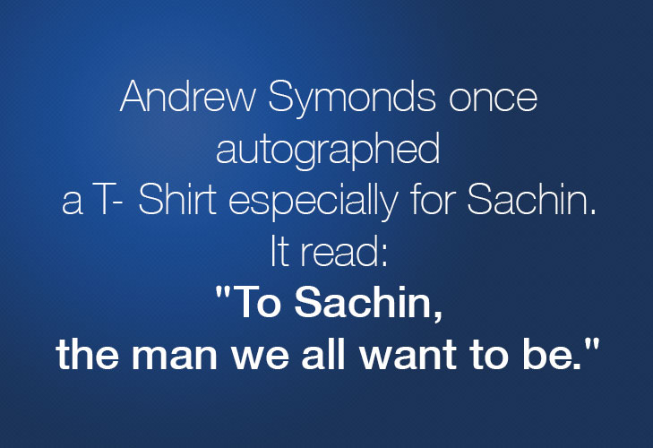Andrew autographed t-shirt sachin @TheRoyaleIndia