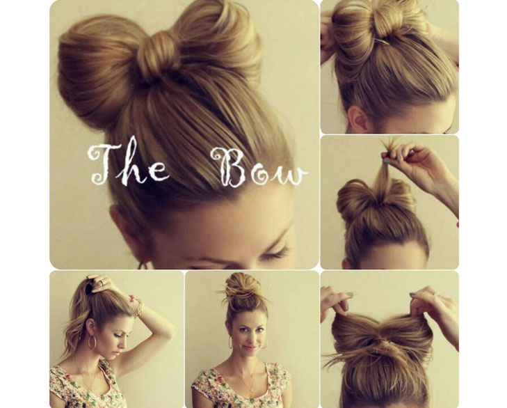 bow bun steps @TheRoyaleIndia