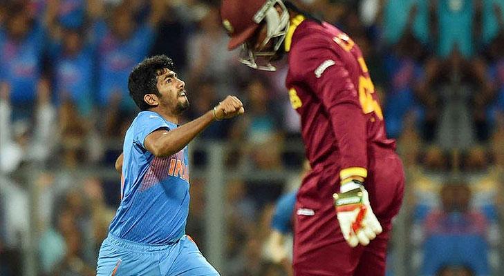 Bumrah gayle bold semi final T20 2016 @TheRoyaleIndia