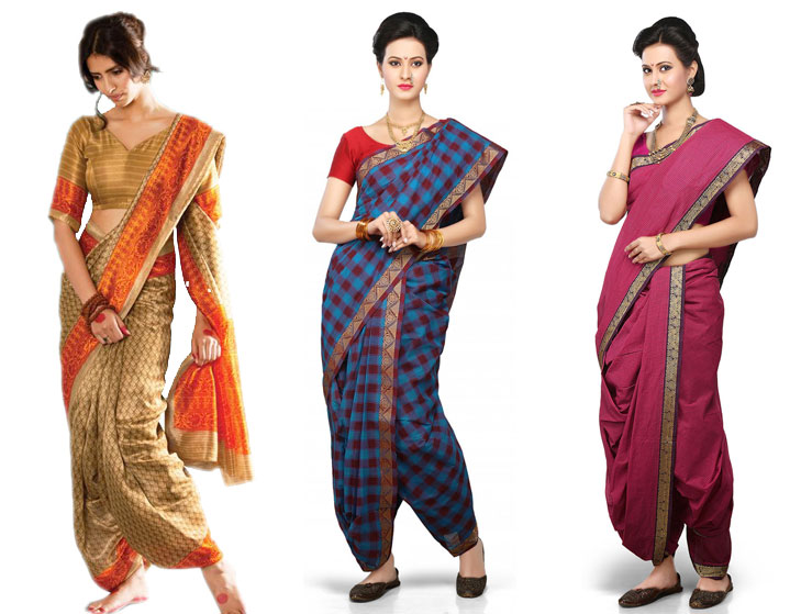 Gudi padwa sarees with modern twist @TheRoyaleIndia