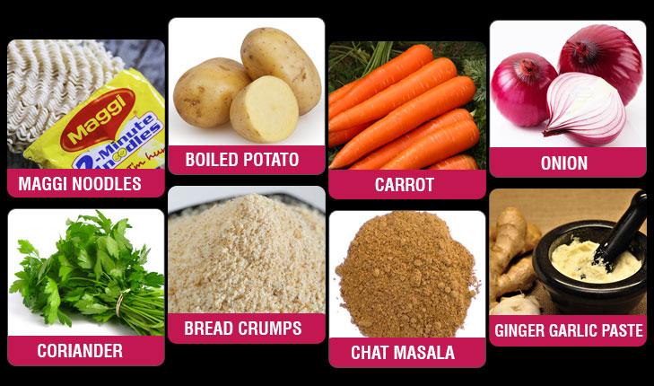 Maggi masala tikki ingredients @TheRoyaleIndia